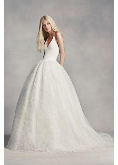 Fabulous White by Vera Wang Halter Tulle Wedding Dress VW