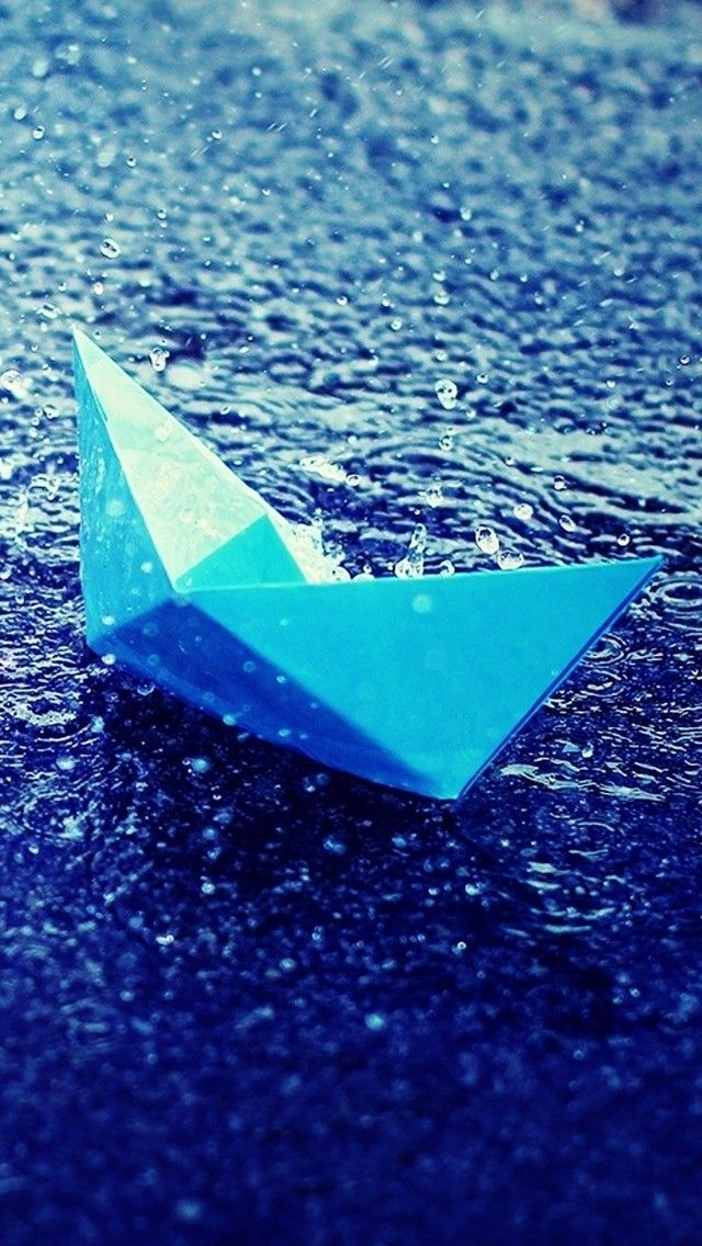 Paper Boat In Rain Wallpaper 4k For Mobile Android Iphone Make It