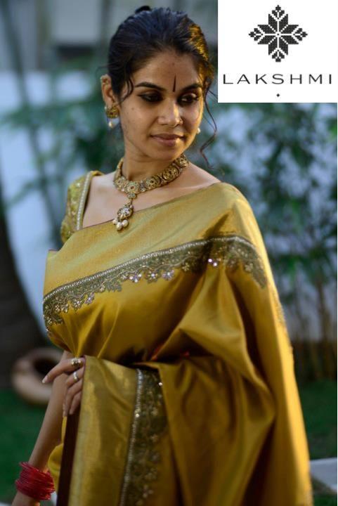 mustard-kanjivaram-saree-with-embroidered-border.jpg (481×720)