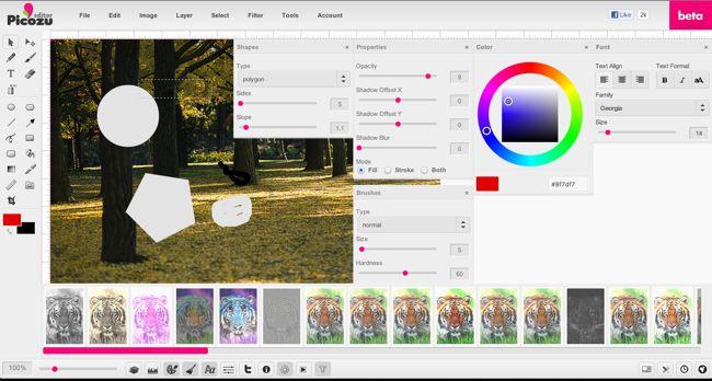 Picozu, un completo editor de imágenes online via genbeta.com