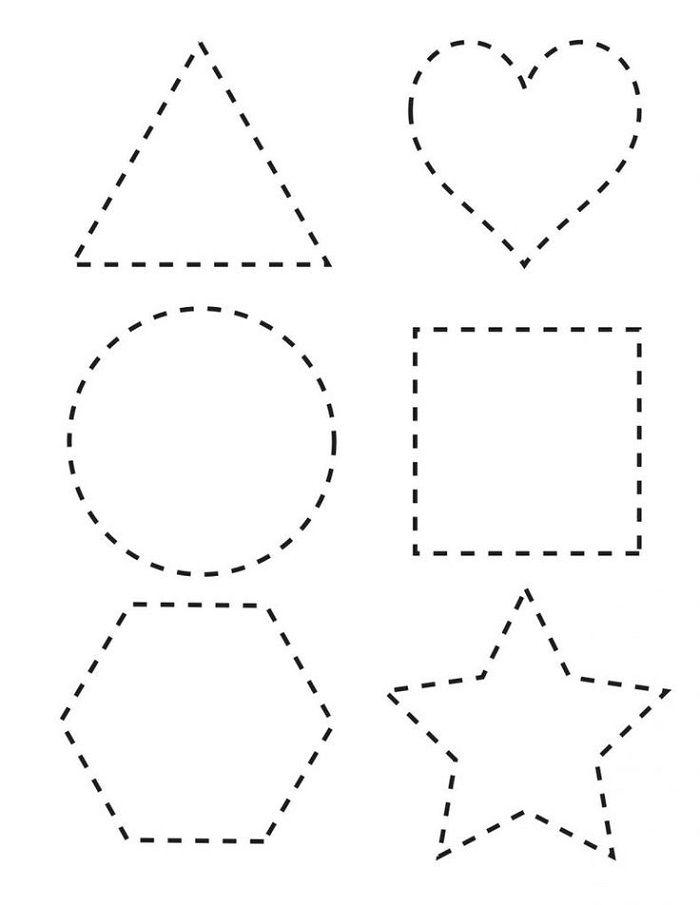 Free Toddler's Printables Preschool Tracing, Tracing Worksheets Preschool,  Shape Tracing Worksheets