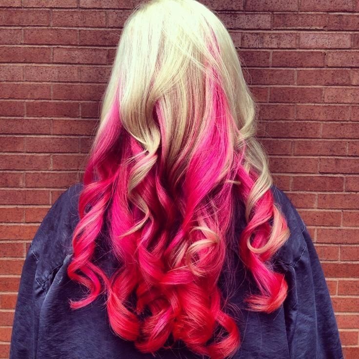 Pink hair, i would do this for the race for the cure.