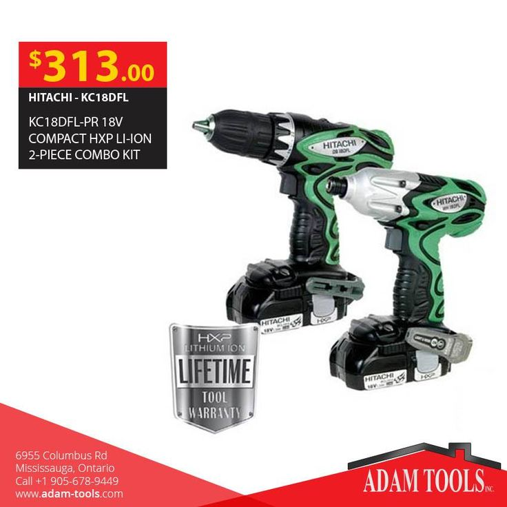 Looking for Hitachi - kc18dfl-pr 18v compact hxp li-ion 2-piece combo kit Visit our website for more information and special offers ...  http://www.adam-tools.com/kc18dfl-pr-18v-compact-hxp-li-ion-2-piece-combo-kit.html #canada #mississuaga #power_tools #building_supplies #adamtools #shop_online #buy_online #hitachi