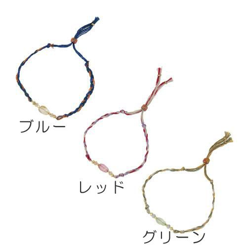 イヤなスパーク放電を防ぐ! 【ゆうメール配送可能】【Anti Static】静電気防止ブレスです。 刺繍糸とガラスのモチーフを使ったお洒落で可愛いデザイン。