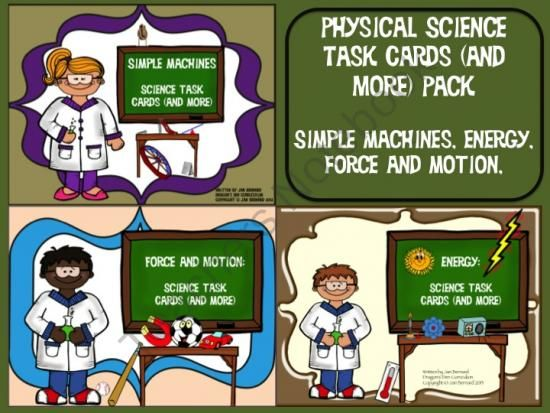 Physical Science Task Cards And More Energy Simple