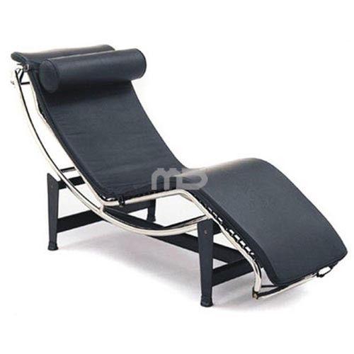 Le Corbusier LC4 Chaise Lounge - Black - Replica
