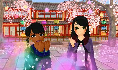 "A cheerful ""salut!"" from the sakura garden! 🌸🌸"