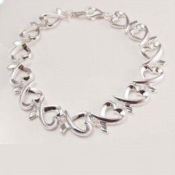 Loop Hearts Silver Bracelet for Women #silver #jewellery