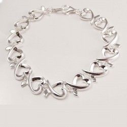 Loop Hearts Silver Bracelet for Women #silver #jewellery