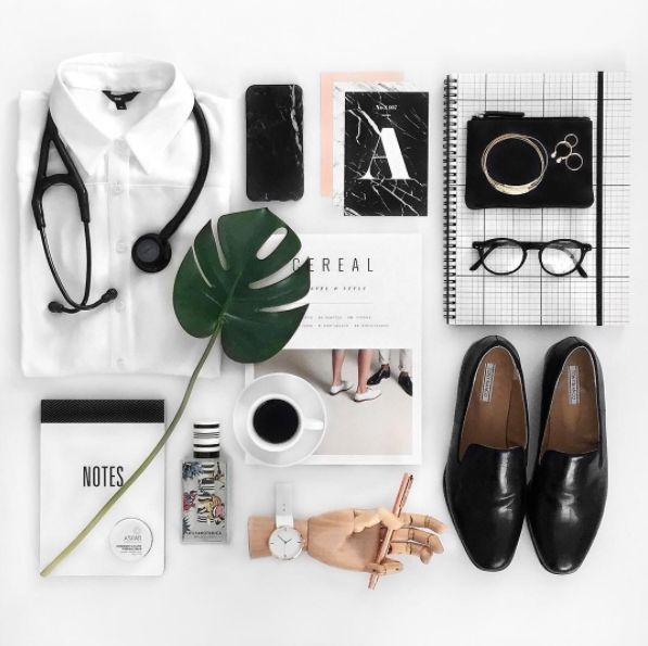 Using a magazine for styling inspiration| Image by @_fridays_child_  Product Styling Tips by CREATIVELY SQUARED | Styling | Create | Flatlay | Product Styling