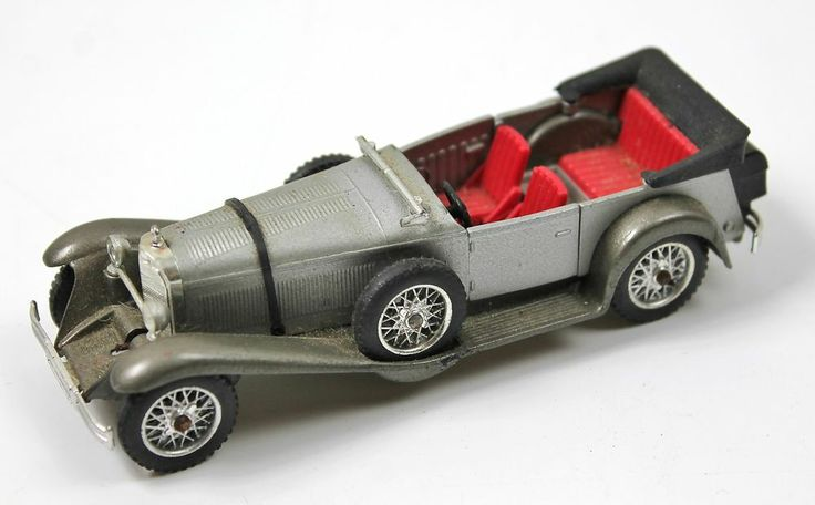 Solido Mercedes Ss 1928 Vintage Diecast Car 1 43 Made In