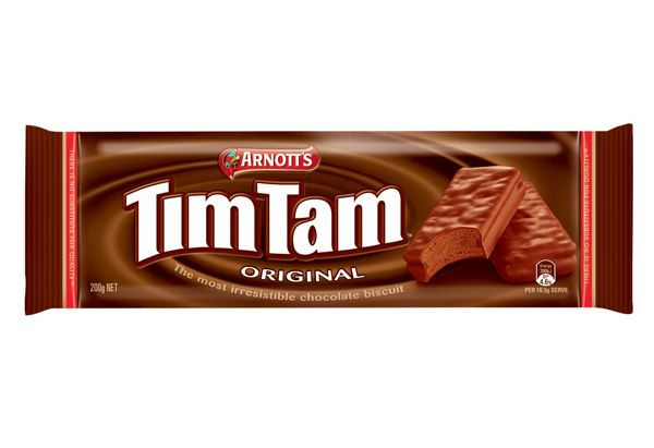 Tim Tams  Tim Tams, made by Arnott's Biscuits, are said to be Australia's favorite cookie. They consist of layers of crisp cookie and filling — a mixture of vanilla, butter and chocolate—covered in rich, chocolaty fudge. They taste incredible alone, but Tim Tams are also used in several dessert recipes.