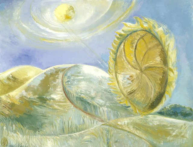 paul nash - solstice of the sunflower (1945)