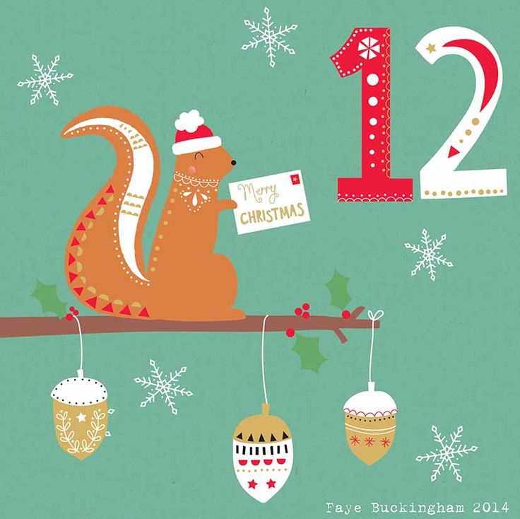 Day 12 Christmas Advent by Faye Buckingham 2014
