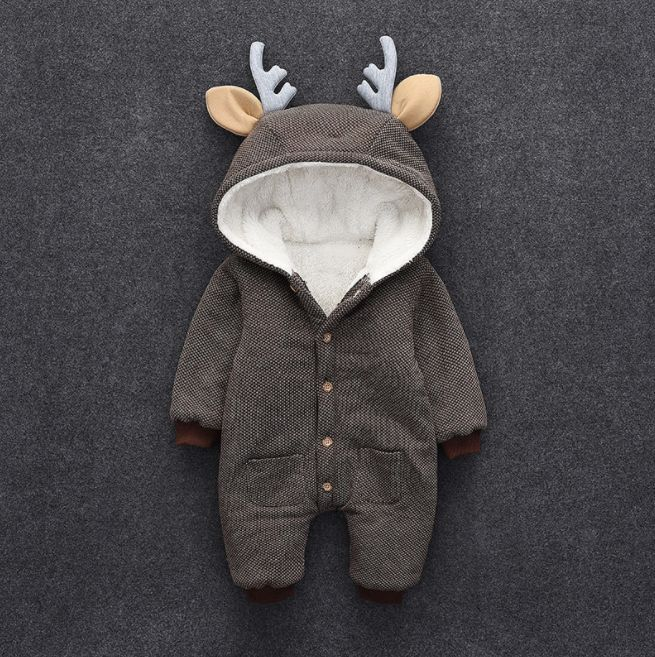 FREE SHIPPING on orders over $35.00!!!Lovely Deer Fleece-lined Long Sleeve Jumpsuit for Baby – cute.patpaty