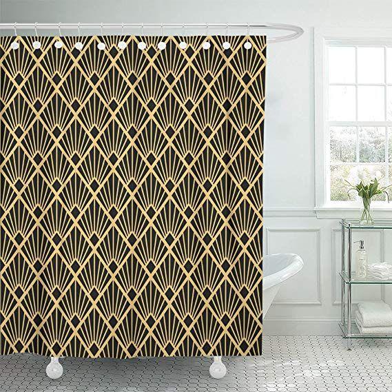 25 99 Emvency Shower Curtain Green Pattern Artdeco Abstract Classy