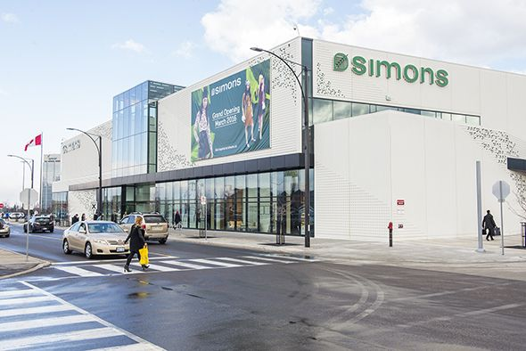 Simons | Quebec-based dept. store well known for it's hi-lo fashions. | Open at Square One in Missisauga. Soon to open at Yorkdale and Scarborough Town Centre.