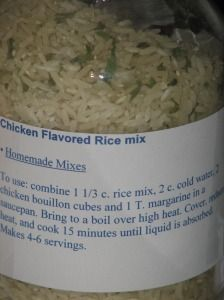Make your own chicken flavored rice mix for pennies!