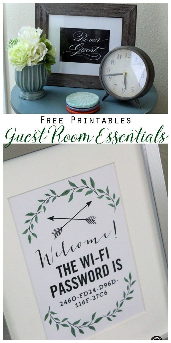 10 Guess Room Tips and Essentials | WiFi Password Free Printable | Guest Bedroom…