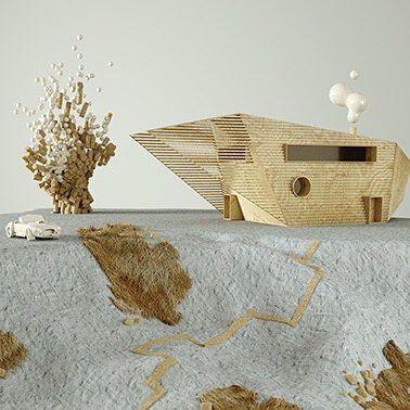 Jutland! 5/5 and is already uploaded to my site santizoraidez.com  #nordic #houses #surreal #3dart #architecture #architecturalmodels #scandinavia #design #artdirection #illustration