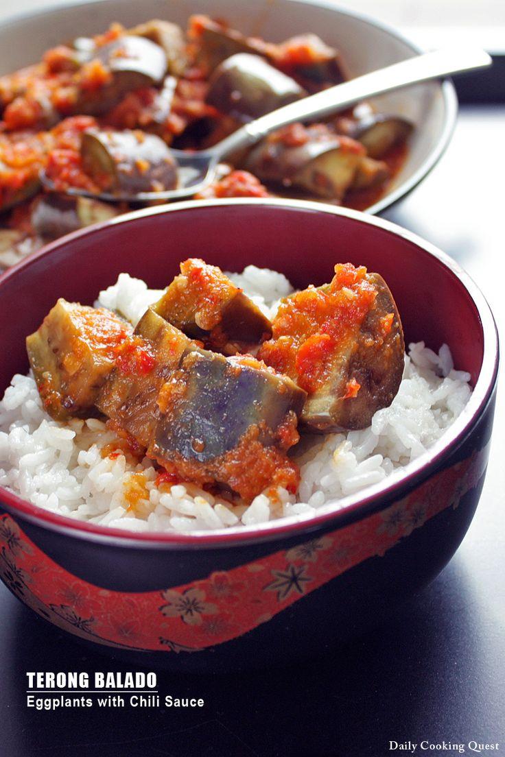 Terong Balado - Eggplants with Chili Sauce