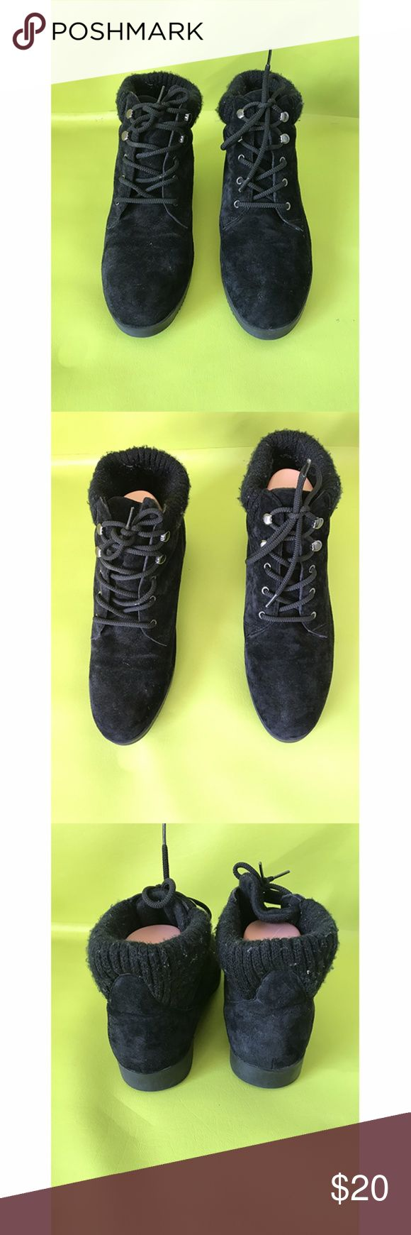 Scothgard Laced Mens Suede Low Cut Boots Sz 10M Scothgard Waltham, Laced Up, Mens Suede, Black, Mens Low Cut Boots Shoes   Free shipping on orders over $75 Scotchgard Shoes Boots