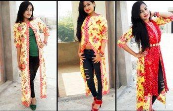 Floral Delight 1 outfit, 3 styles #jaipurblogger #jaipurdesigner #nidhishardablog #stylestories