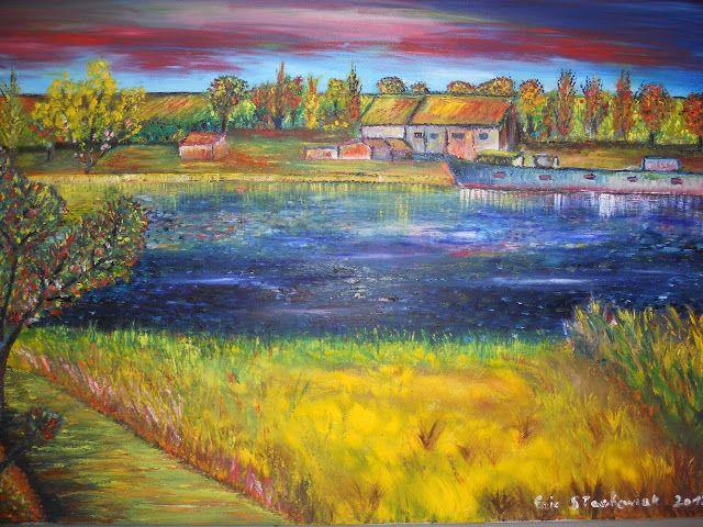 Bord de Marne Le restaurant du Bac à Charly-Sur-Marne. Vendue  aux enchères à... #Art #Artiste