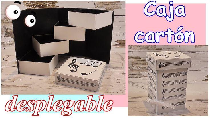 Caja organizadora desplegable hecha con cartón. Ideas para reciclar y de...