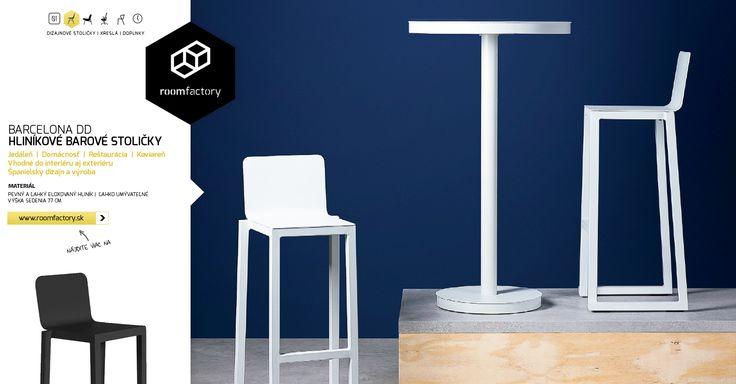 V tomto teple sa treba osviežiť! Najlepšie na našich nových barových stoličkách z eloxovaného hliníka. Fantastické španielske stoličky Barcino vynikajú jednoduchým elegantným dizajnom a pevnou konštrukciou.