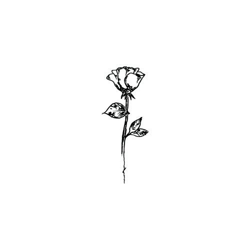 small rose tattoo idea