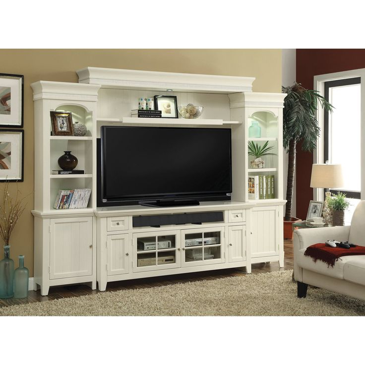 Parker House Tidewater 72 Inch TV Console Entertainment Wall PH-TID172-4
