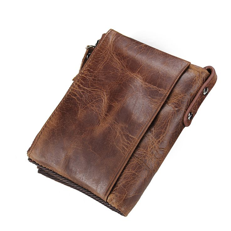 Genuine Cowhide Leather Men Wallet With Short Coin Purse //Price: $15.95 & FREE Shipping //