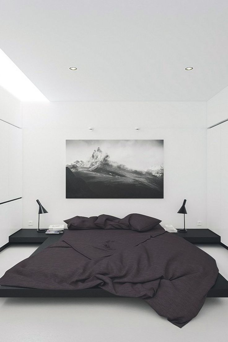 Awesome 42 Elegant Black And White Bedroom Style Ideas. More at http://dailypatio.com/2017/12/21/42-elegant-black-white-bedroom-style-ideas/