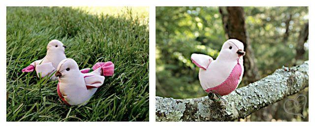 creatief besparen en meer: vogeltje van stof naaien