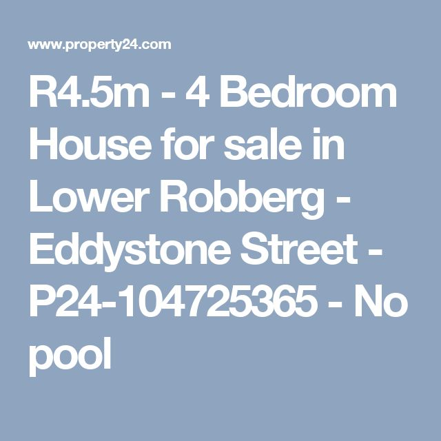 R4.5m - 4 Bedroom House for sale in Lower Robberg - Eddystone Street - P24-104725365 - No pool
