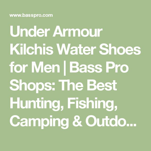 Under Armour Kilchis Water Shoes for Men | Bass Pro Shops: The Best Hunting, Fishing, Camping & Outdoor Gear