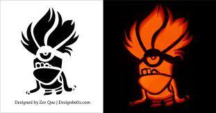 evil minion pumpkin stencil - Google Search