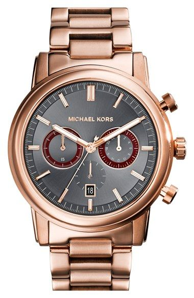MICHAEL Michael Kors Michael Kors 'Pennant' Chronograph Bracelet Watch, 43mm available at #Nordstrom