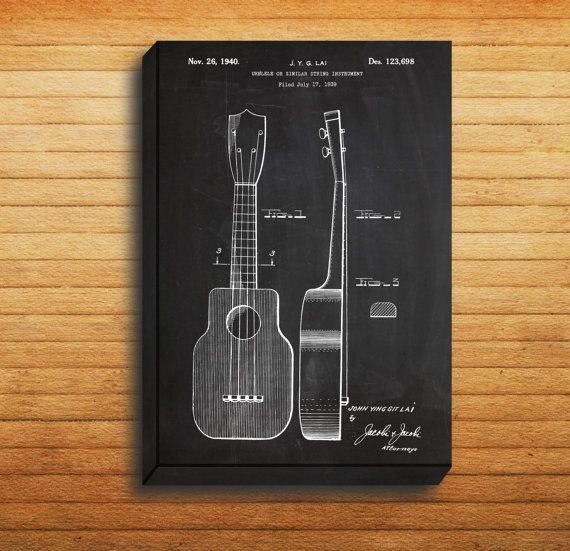 CANVAS - Ukulele Patent, Ukulele Poster, Ukulele Print, Ukulele Art, Ukulele Decor, Ukulele Blueprint, Ukulele Instrument, Ukulele Design by STANLEYprintHOUSE  34.99 USD  We use a specially manufactured cotton blend canvas for archival printing, and high end printers to produce a stunning quality canvas that's made to last.  The printing technology used for the canvas is eco-solvent.  Our art is guaranteed to turn heads and will make a great affordab ..  https://www.etsy.com/ca/lis..