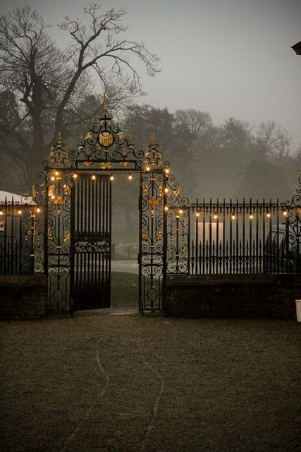 Regents Park in London. Love the twinkle lights.