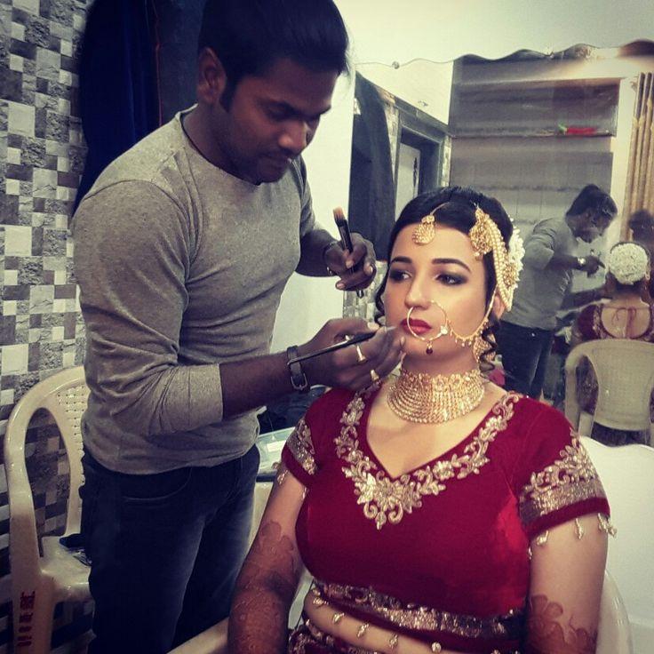 Work time # Bridal- Mona shaikh # Arabian Look # Beautiful Bride# Makeup products- Mac, Dior, Khol, Goerlain etc # Makeup by me # Hair by( Ksm Academy Group )...ph 9930611701.