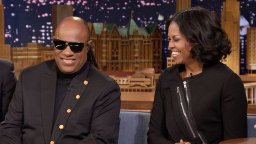 Watch The Tonight Show Starring Jimmy Fallon Season 4 Episode 65 Interview Free Online - Stevie Wonder Brought Barack and Michelle Obama Together | Yahoo View