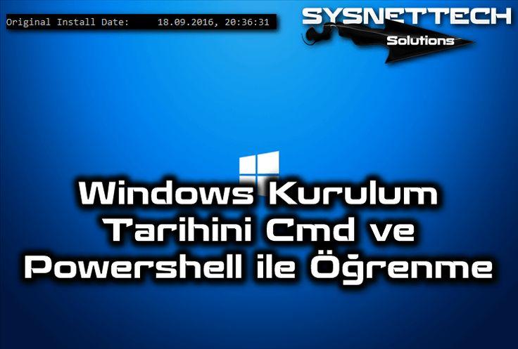 Windows Kurulum Tarihini Cmd ve Powershell ile Öğrenme | SYSNETTECH Solutions ----------------------------------------------------------------------------------------------- https://www.sysnettechsolutions.com/windows/windows-kurulum-tarihini-cmd-ve-powershell-ile-ogrenme/ ----------------------------------------------------------------------------------------------- #Windows #Windows10 #CMD #Powershell #WindowsKurulumTarihi #WindowsDate #Howto #OperatingSystem #Windows8 #Windows7