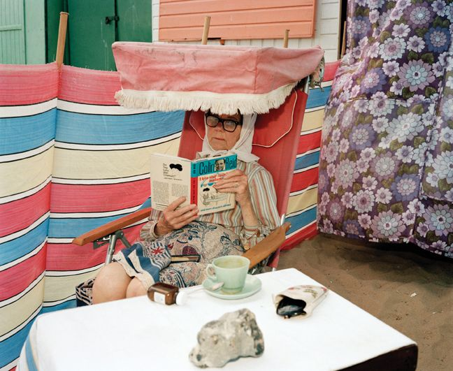 Martin Parr,  Margate, UK,1986. © Martin Parr / Magnum Photos. great patterns and curious foldable objects
