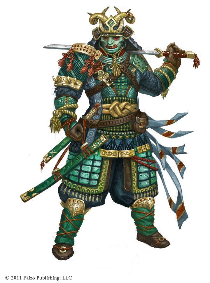 Paizo- Male Samurai by FreShPAiNt.deviantart.com on @deviantART #pathfinder