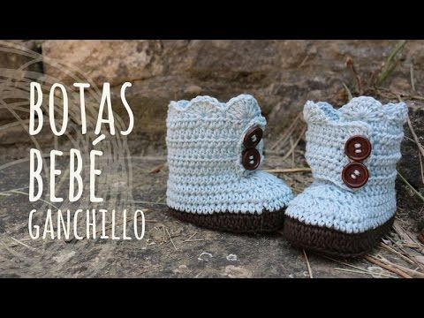 Tutorial Botas Bebé Ganchillo   Crochet - YouTube
