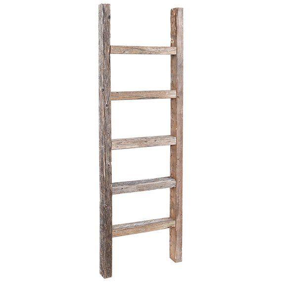 Decorative Ladder Reclaimed Old Wooden Ladder 4 Foot Rustic Barn Wood Old Wooden Ladders Ladder Decor Wooden Ladder