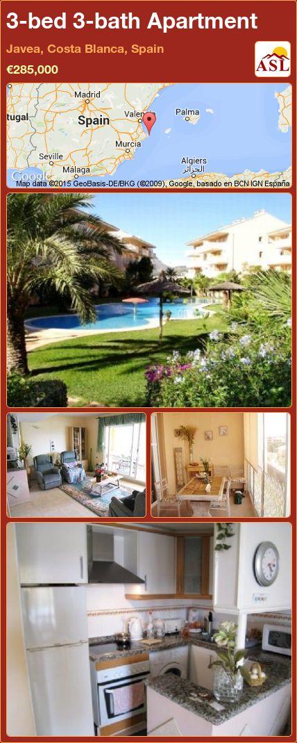3-bed 3-bath Apartment in Javea, Costa Blanca, Spain ►€285,000 #PropertyForSaleInSpain