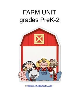 FARM THEMATIC UNIT printables, activities, games and lesson plans.